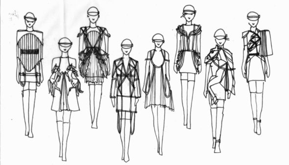DressSketches3_B&W